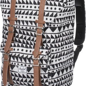 Herschel little America white chevron backpack